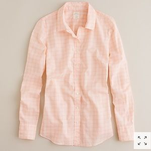 J. Crew Perfect Shirt In Tangerine Plaid